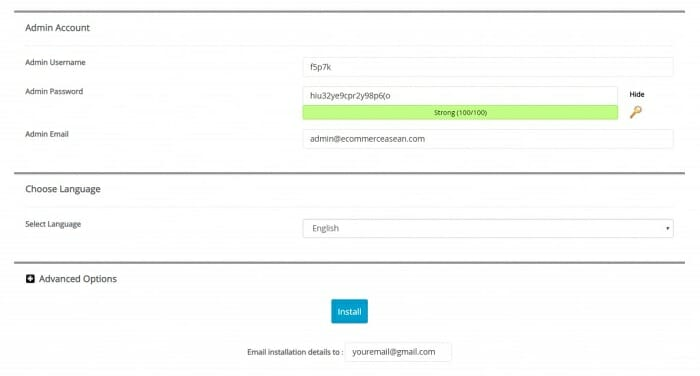 A2 Hosting username and password creation