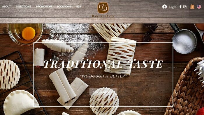 Bakers Oven Singapore uses Wix ecommerce software