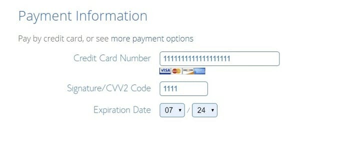 Bluehost payment options in Brunei