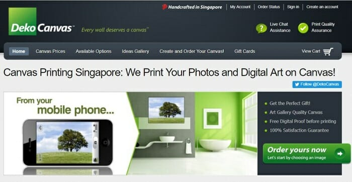 Singaporean online store using Bigcommerce