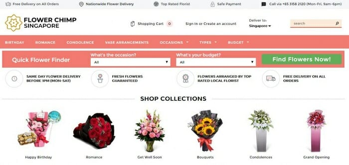 flowerchimp ecommerce singapore shopify plus