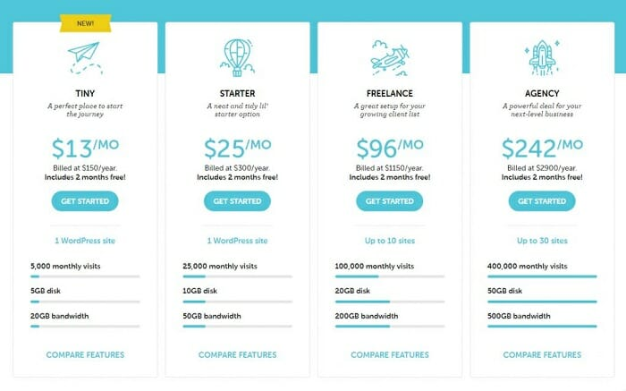 Flywheel web hosting comparison 2020