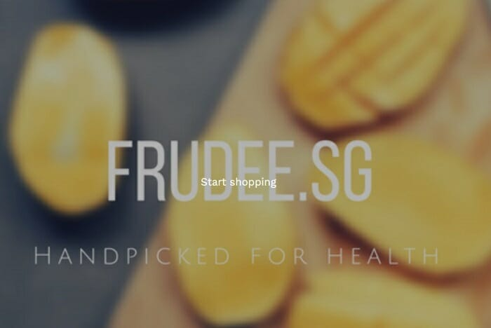 Frudee Singapore ecommerce website