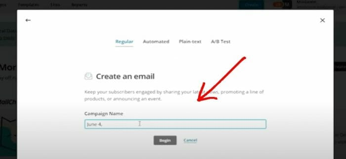 how to create an email marketing campaign on Mailchimp