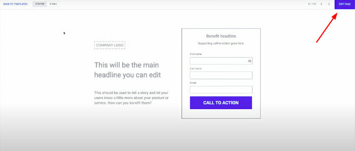 how to customize Instapage template for WordPress
