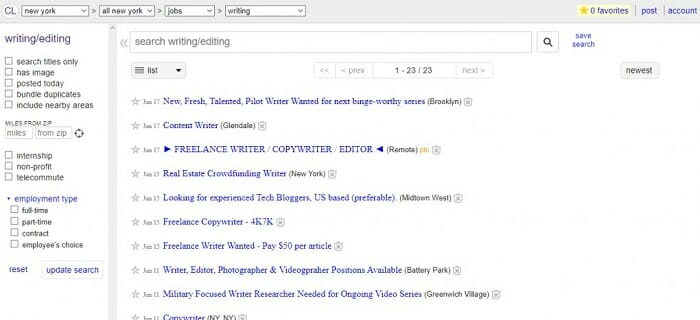 How to get freelance projects from Craigslist in Thailand