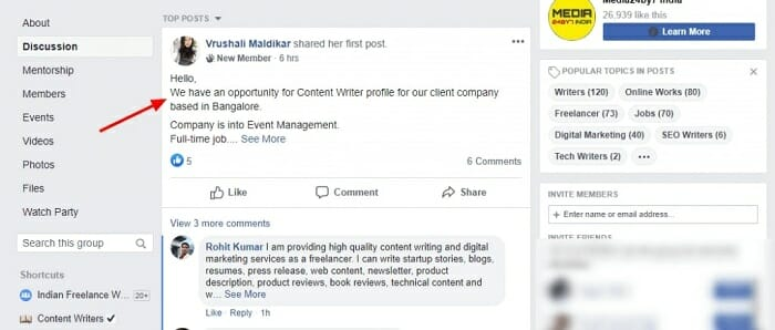 how to get freelancing projects from Facebook in Thailand