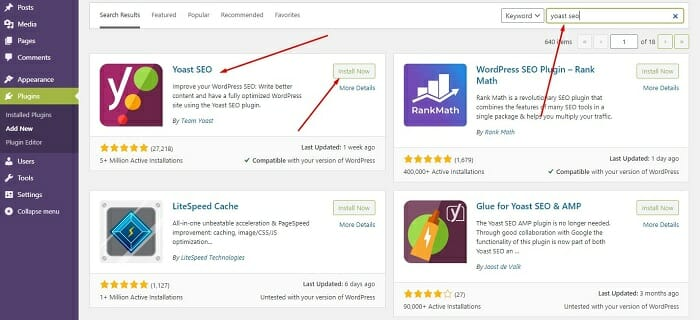 how to install yoast seo plugin for free