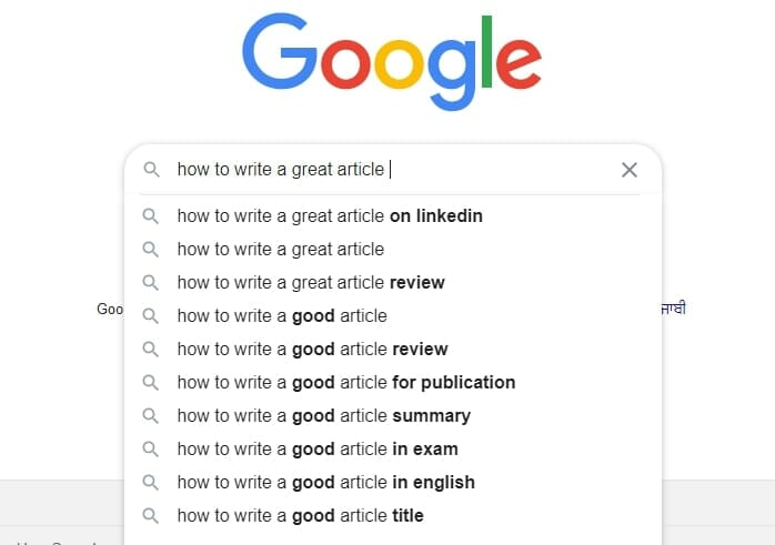 How to use Google Auto Suggest to find keywords for your first blog post