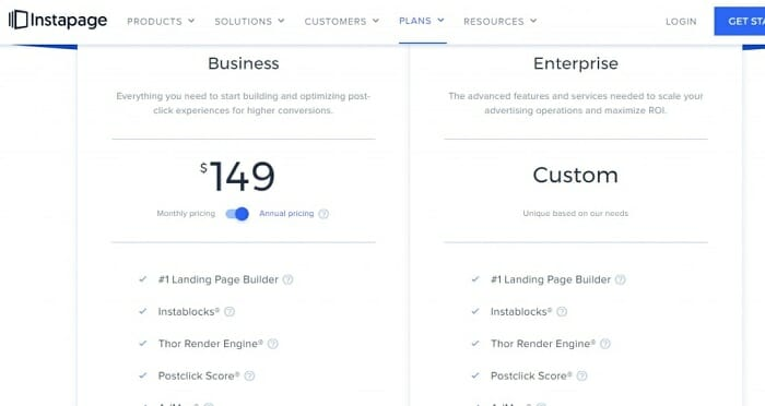 Instapage pricing review in 2020