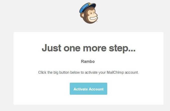 Mailchimp tutorial for email verification