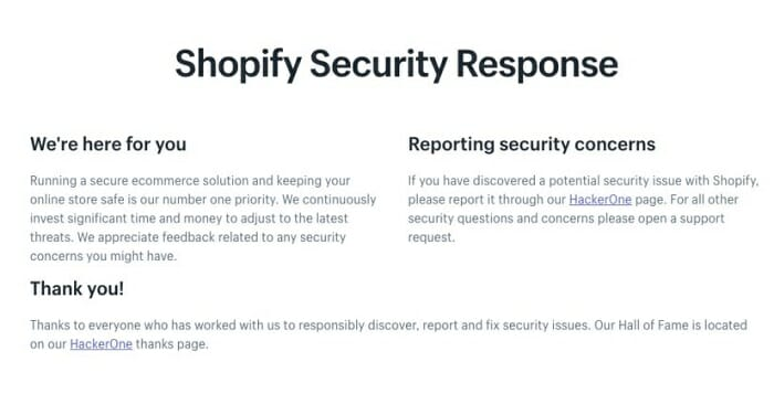 top shopify security advantages