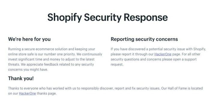 top shopify security advantages
