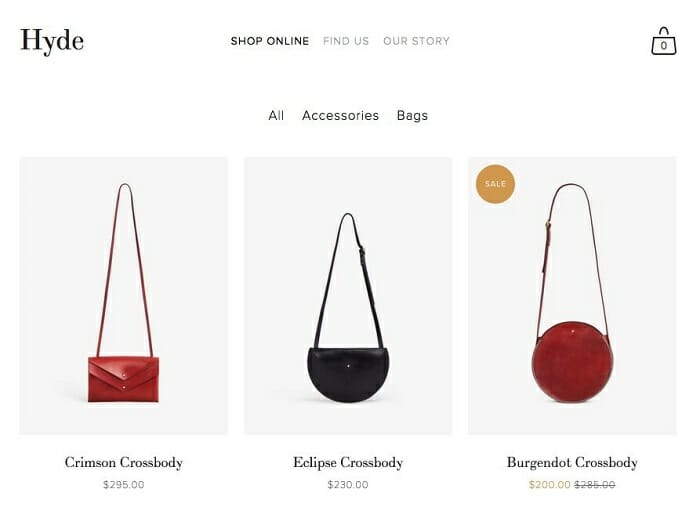 squarespace ecommerce unlimited product listing