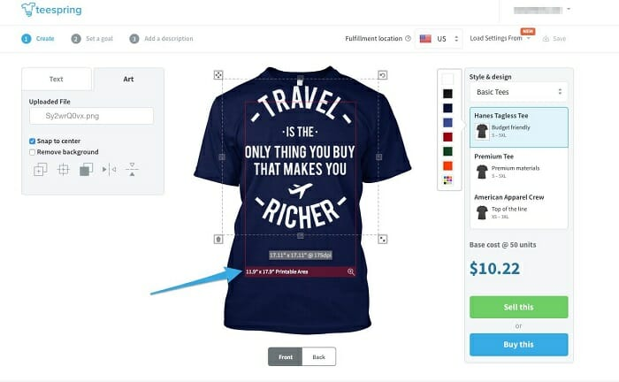 Start a T-shirt selling business in Asia with Teespring to make passive income