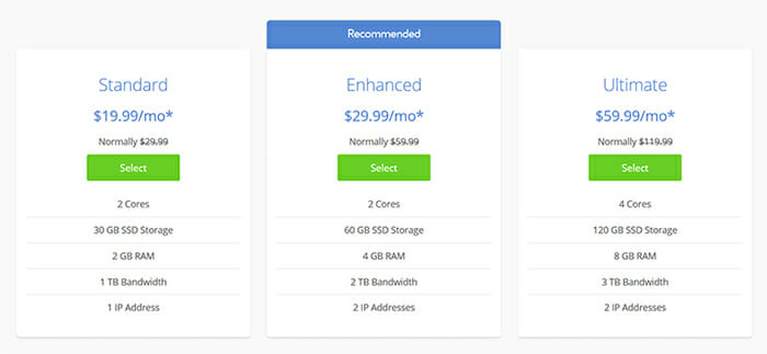 vps Hosting Singapore Bluehost pricing