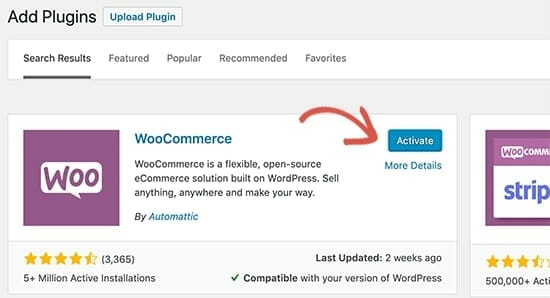 WooCommerce tutorial for activation
