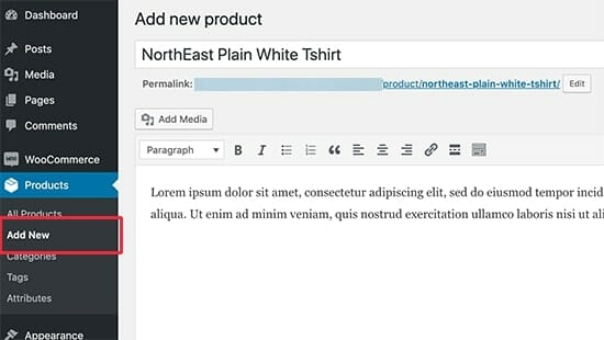 WooCommerce Tutorial on adding new products
