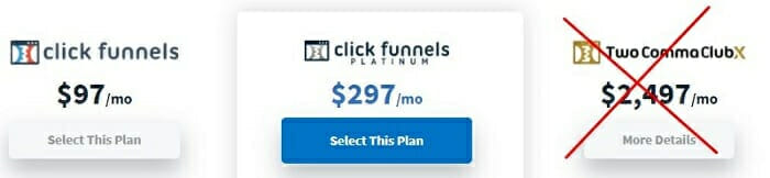 ClickFunnels pricing comparison and review with Samcart