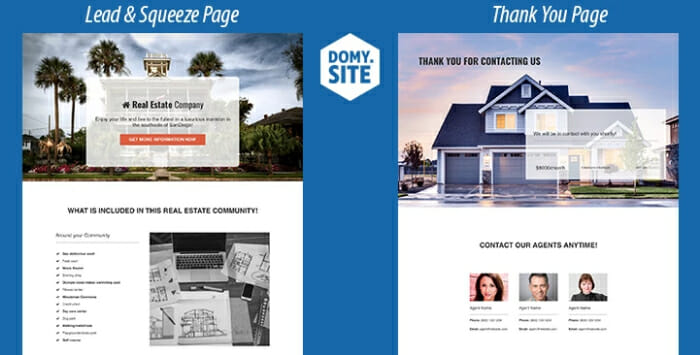 Realtors lead and squeeze page funnel template