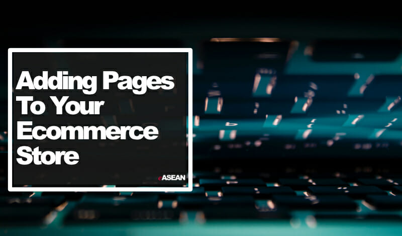 adding pages to your ecommerce store